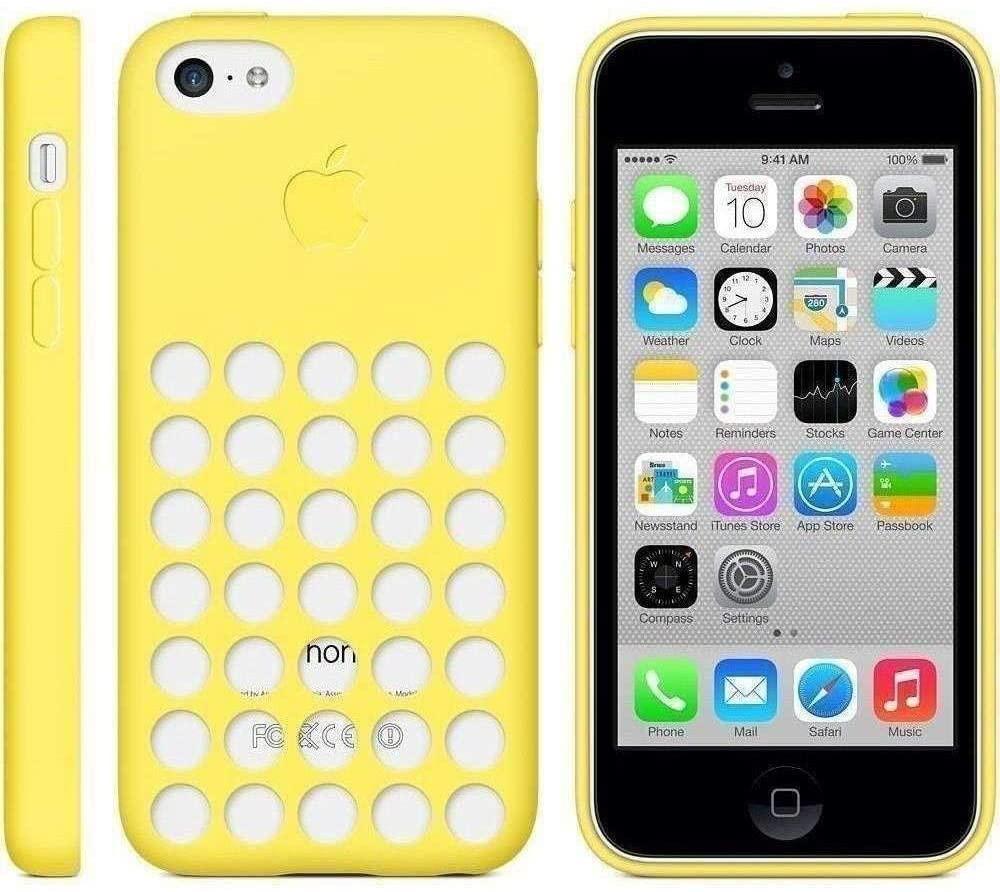 Détails sur Apple MF038ZM/A IPHONE 5c Étui - Jaune